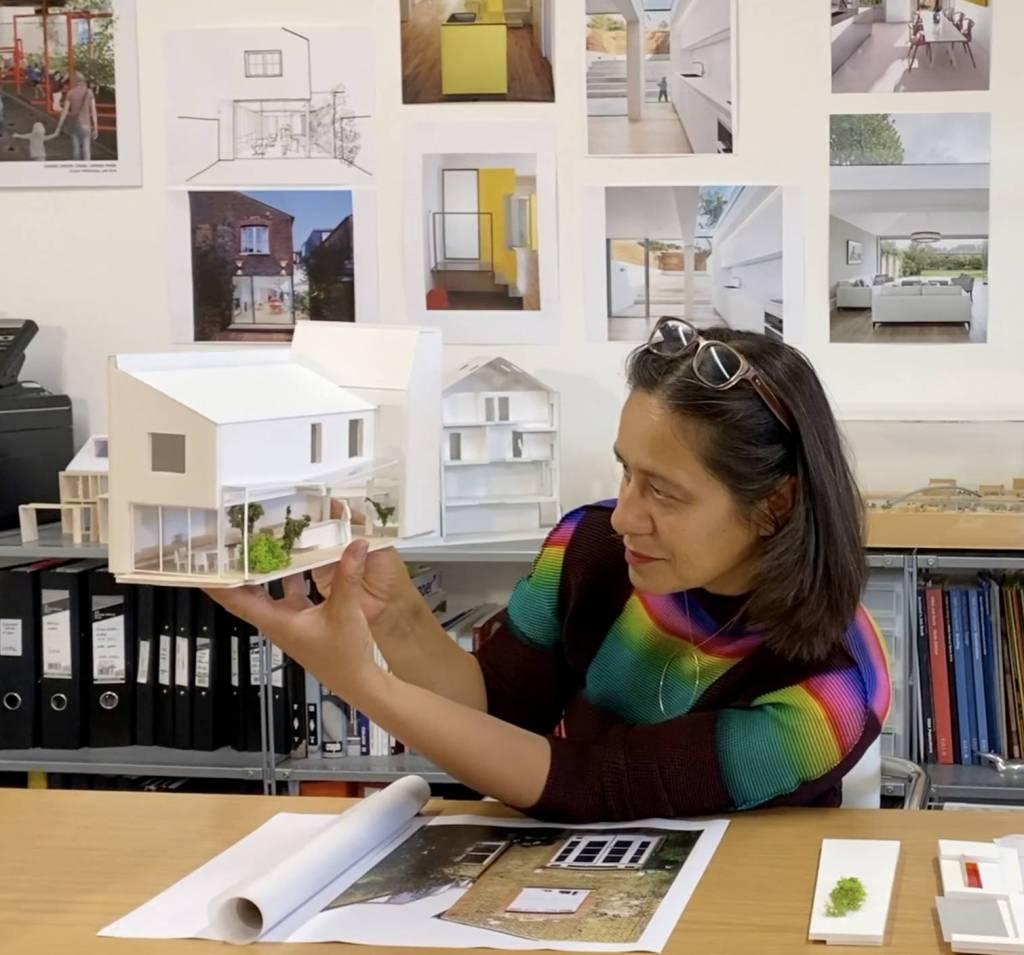 Sophie Nguyen in her studio