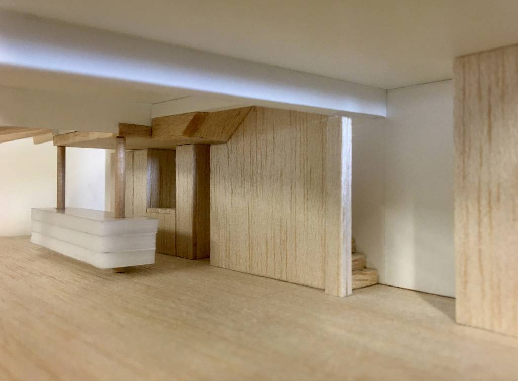 House extension in West London Brackenbury House_Interiors Study Model
